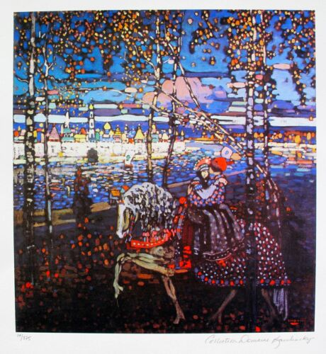 Wassily Kandinsky COUPLE RIDING Estate Signed Limited Edition Art