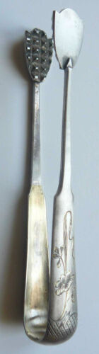 Russian Imperial Silver 84  Jugendstil Sugar Tongs Moscow 1899-1908