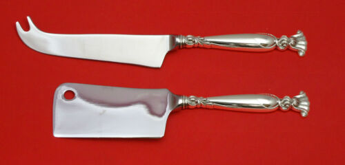 ROMANCE OF THE SEA BY WALLACE STERLING SILVER CHEESE SERVING SET 2PC HHWS CUSTOM