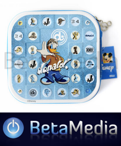 Disney Donald Duck CD / DVD Tin Storage Wallet Case - Holds 24 discs
