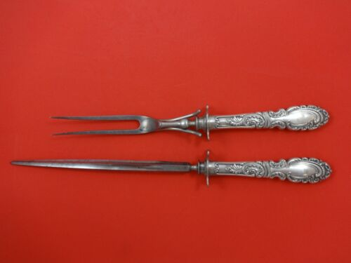 """Aldine by Rogers & Hamilton Plate Silverplate Roast Carving Set 2pc HH 14"""""""
