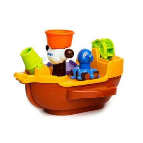 Tomy Baby Kids toddler Pirate Ship Bath time squirt water Activity Floating Toy