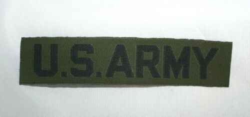 VINTAGE U.S. ARMY BDU TAPE BLACK ON OD (SUBDUED) FOR COMBAT UNIFORMPatches - 36078