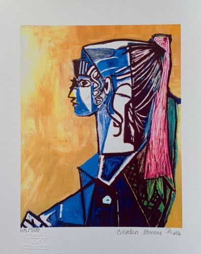 """Pablo Picasso """"PORTRAIT OF SYLVETTE"""" Estate Signed Limited Edition Giclee Art"""