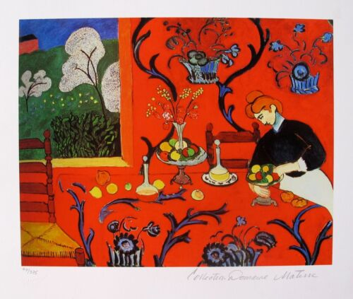HENRI MATISSE THE RED ROOM Estate Signed & Stamped Limited Edition Giclee Art