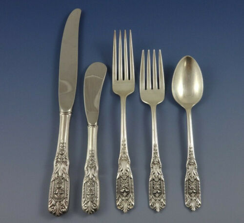 Milburn Rose by Westmorland Sterling Silver Flatware Set Service 44 Pieces