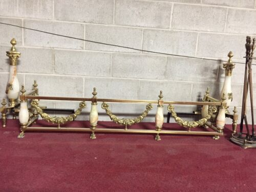 ANTIQUE FIREPLACE/HEARTH SET IN ONYX [EARLY 20TH CENTURY] GIVEAWAY PRICE !!!
