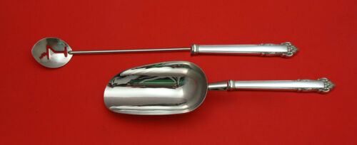 English Shell by Lunt Sterling Silver Bar Set 2pc HHWS  Custom Made
