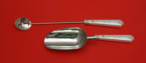 Saint Dunstan Chased by Gorham Sterling Silver Bar Set 2pc HHWS  Custom Made