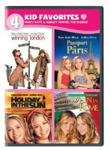 4 Kid Favorites: Mary-Kate & Ashley Travel the World [4 Discs] (2013, DVD NEW)