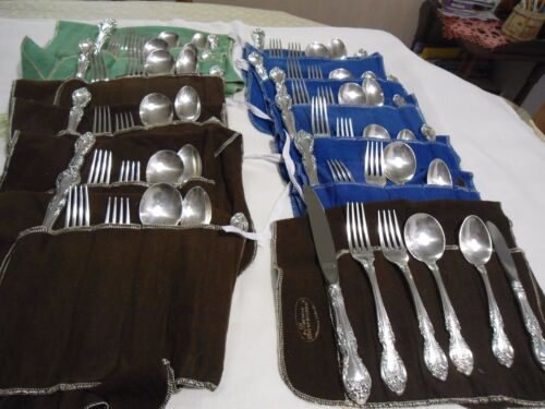 """""""Melrose"""" by Gorham, 12 Place settings, Sterling Silver Flatware."""
