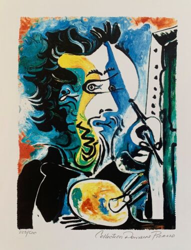 Pablo Picasso THE ARTIST Estate Signed & Numbered Small Giclee Art