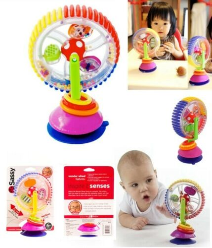 Baby Kid Child Sassy Rainbow Observe Ferris Wheel Rattle Suction High Chair Toy
