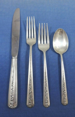 Rambler Rose by Towle Sterling Silver Flatware Set Service 24 Pieces