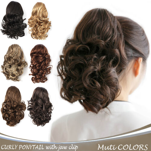"""OneDor 12"""" Curly Hair Synthetic Claw Clip Drawstring Ponytail Hair Extensions"""