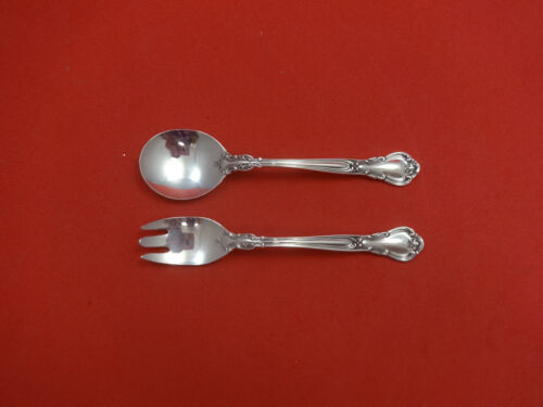 """Chantilly by Gorham Sterling Silver Baby Childs Set 2pc 4 3/4"""" Custom Made"""