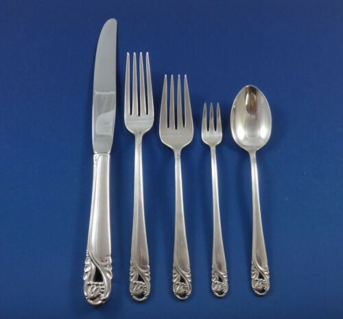 Spring Glory by International Sterling Silver Flatware Service 12 Set 66 Pieces