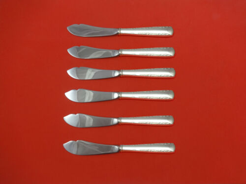 """Camellia by Gorham Sterling Silver Trout Knife Set 6pc 7 1/2"""" HHWS Custom Made"""