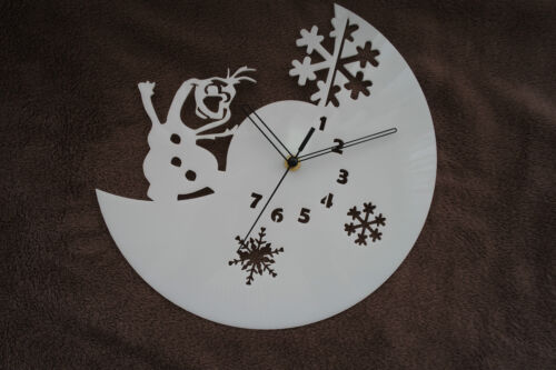 Frozen design wall clock, made from White plexiglass [*L-1]