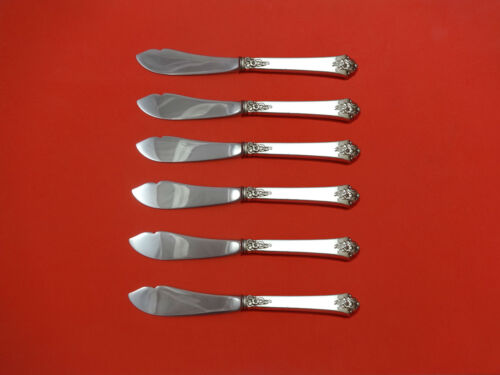 Castle Rose by Royal Crest Sterling Silver Trout Knife Set 6pc HHWS  Custom Made