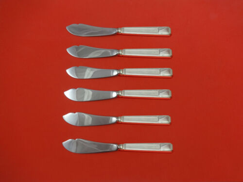 Champlain by Amston Sterling Silver Trout Knife Set 6pc HHWS  Custom Made