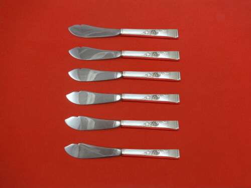 Classic Rose by Reed & Barton Sterling Silver Trout Knife Set 6pc HHWS  Custom