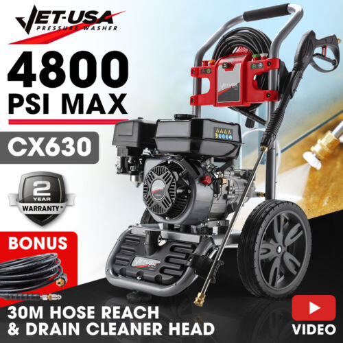 Jet-USA 4800PSI High Pressure Cleaner Washer - Ultimate Edition - Water Petrol <br/> Serious Quality plus 30M Hose Reach and Drain Cleaner
