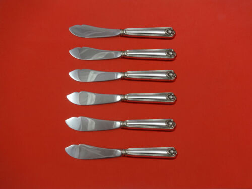 Fiddle Shell by Frank Smith Sterling Silver Trout Knife Set 6pc HHWS  Custom