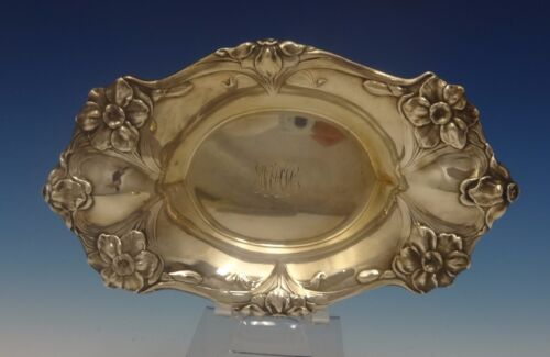 Les Cinq Fleurs by Reed & Barton Sterling Silver Candy Dish w/Flower Motif #0456