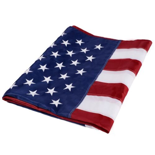 4'x6' ft American Flag Sewn Stripes Embroidered Stars Brass Grommets USA US U.S.