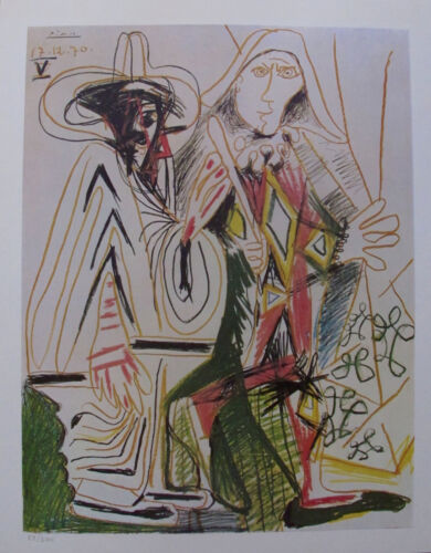 Pablo Picasso BIRTHDAY 1972 Plate Signed Limited Edition Art Lithograph