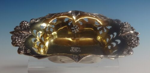 Blackberry by Tiffany & Co. Sterling Silver Nut Dish Pierced Gold Washed (#0819)