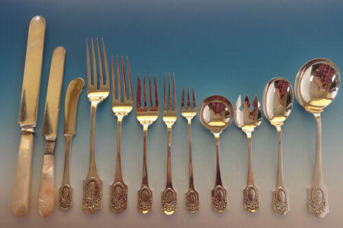 Louis XVI by Shreve Sterling Silver Flatware Set Service Fitted Boxes 197 Pcs