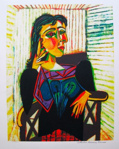 """Pablo Picasso DORA MAAR Estate Signed Limited Edition Art Giclee 26"""" x 20"""""""