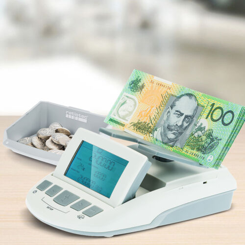 NEW Australian Digital Note Coin Money Counter Jewellery Scales Counting Machine <br/> German Designed & Engineered - 24 Months Warranty