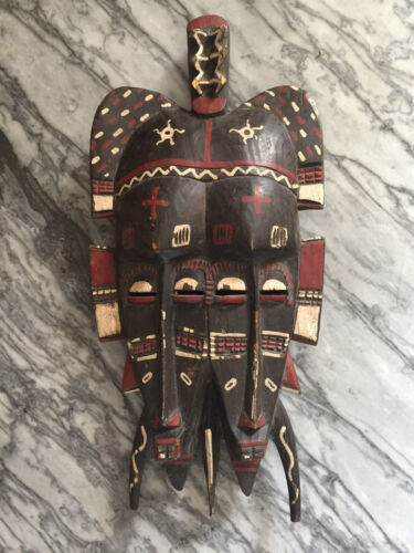 African Senufo Twin Kpelie Mask Ivory Coast old paint patina shop Studio TORNO