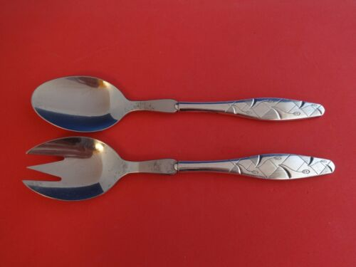 """Diamant aka Diamond by A. Dragsted Sterling Silver Salad Set 2pc HHWS 8 1/2"""""""