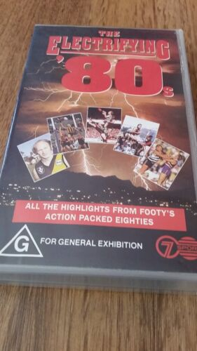 THE ELECTRIFYING 80's - ALL THE HIGHLIGHTS FROM FOOTY'S 80's AFL VFL VHS VIDEO