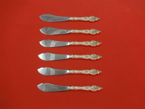 Les Six Fleurs by Reed & Barton Sterling Trout Knife Set 6pc. HHWS  Custom Made