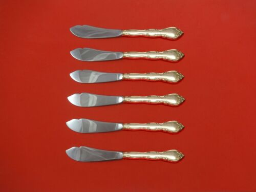 Rose Tiara by Gorham Sterling Silver Trout Knife Set 6pc. Custom Made 7 1/2""