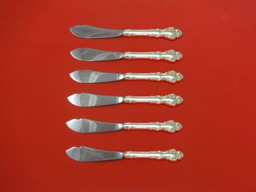 Spanish Baroque by Reed and Barton Sterling Silver Trout Knife Set 6pc. Custom