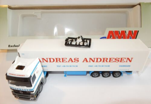 AWM HERPA HO 1/87 MB MERCEDES ACTROS CAMION SEMI REMORQUE ANDREAS ANDRESEN BOX