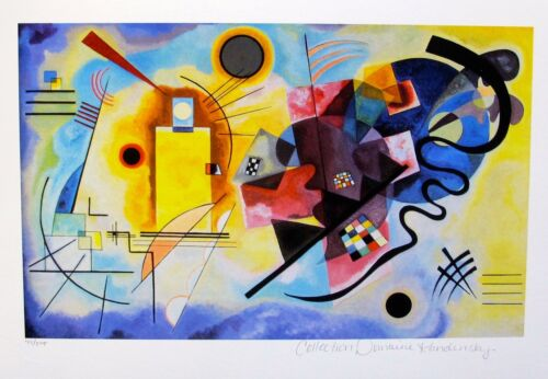 Wassily Kandinsky YELLOW RED & BLUE Estate Signed Limited Edition Art Small