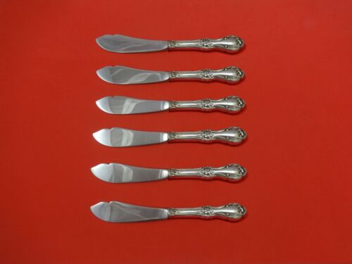 """Wild Rose by International Sterling Silver Trout Knife Set 6pc. Custom 7 1/2"""""""