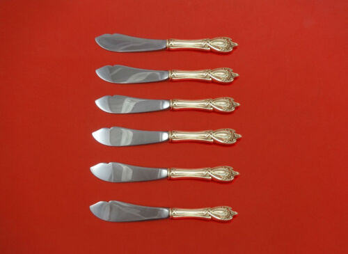 """Monticello by Lunt Sterling Silver Trout Knife Set 6pc. HHWS  Custom Made 7 1/2"""""""