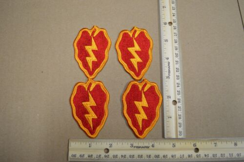 Lot of 4 US Army 25th Infantry Division Full Color Embroidered PatchesPatches - 36078