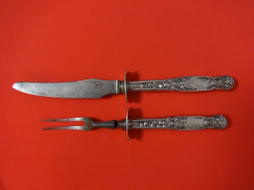 Heraldic by Whiting Sterling Silver Steak Carving Set 2pc HHWS