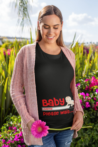 Baby Now Loading T Shirt Funny Tee Top Pregnant Maternity Gift Present