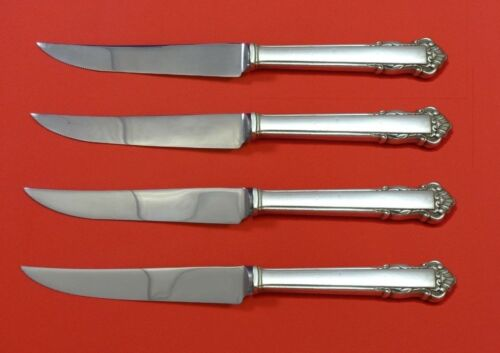 """English Shell by Lunt Sterling Silver Steak Knife Set 4pc HHWS  Custom 8 1/2"""""""