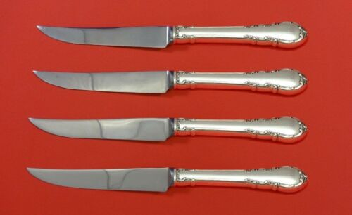 Modern Victorian by Lunt Sterling Silver Steak Knife Set 4pc HHWS  Custom 8 1/2""